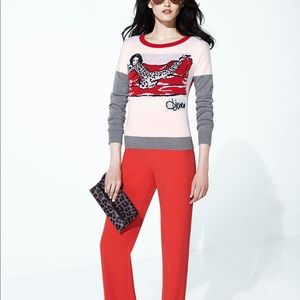 DVF Viviana Graphic wool Sweater
